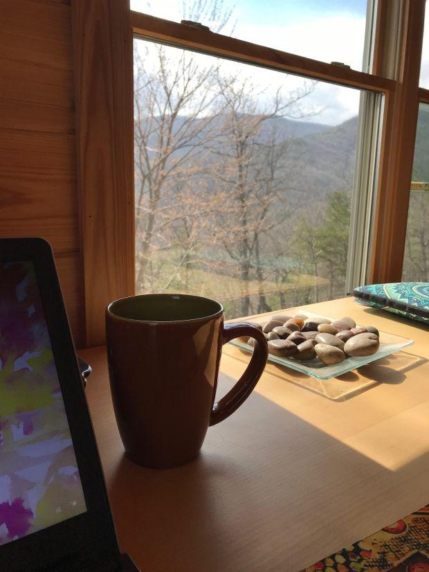 study at cabin