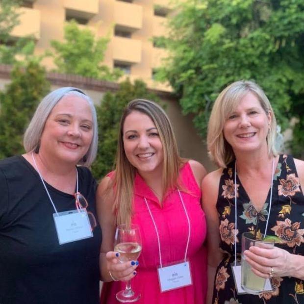 Sheilla, Maggie, Beth at WFWA 2019